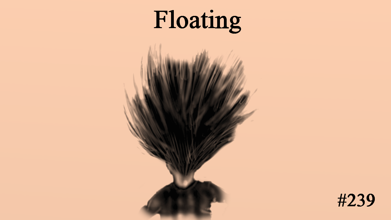 Floating, The Penned Sleuth, Short Story, People, Cute, Space